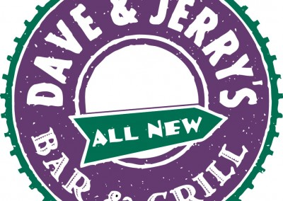 Kaptur Design - Dave & Jerry's Bar & Grill Logo
