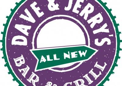 Kaptur Design - Dave & Jerry's Bar & Grill Logo