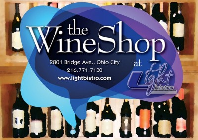 Kaptur Design - Light Bistro The Wine Shop Postcard