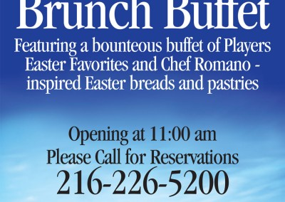 Kaptur Design - Players on Madison Easter Brunch Buffet