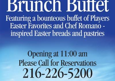 Kaptur Design - Players on Madison Easter Brunch Buffet