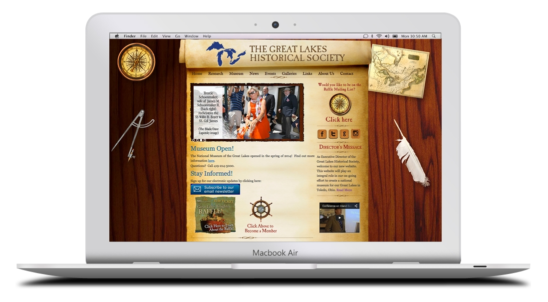 Kaptur Design - Great Lakes Historical Society Website Design