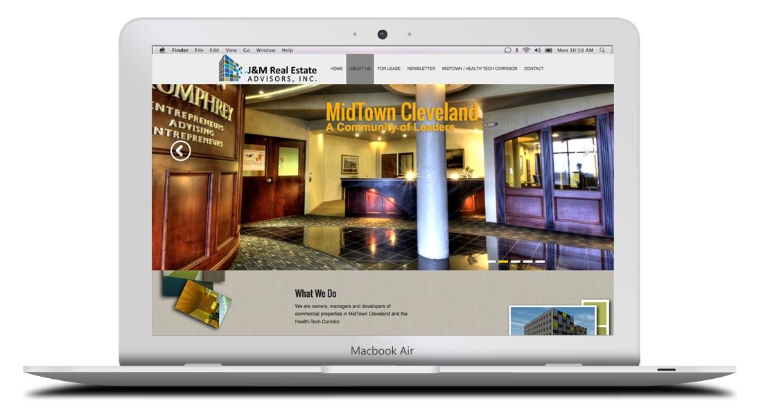 Kaptur Design - J&M Real Estate Advisors Website Design