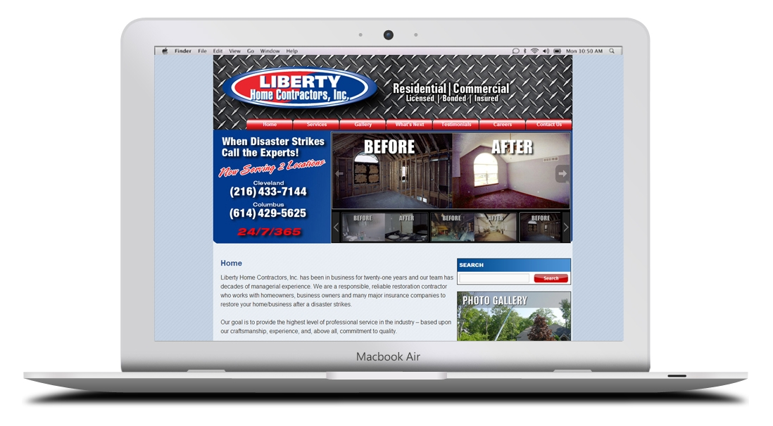 Kaptur Design - Liberty Home Contractors Website Design