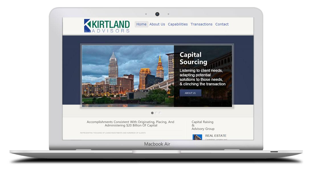 Kaptur Design - Kirtland Advisors Website Design