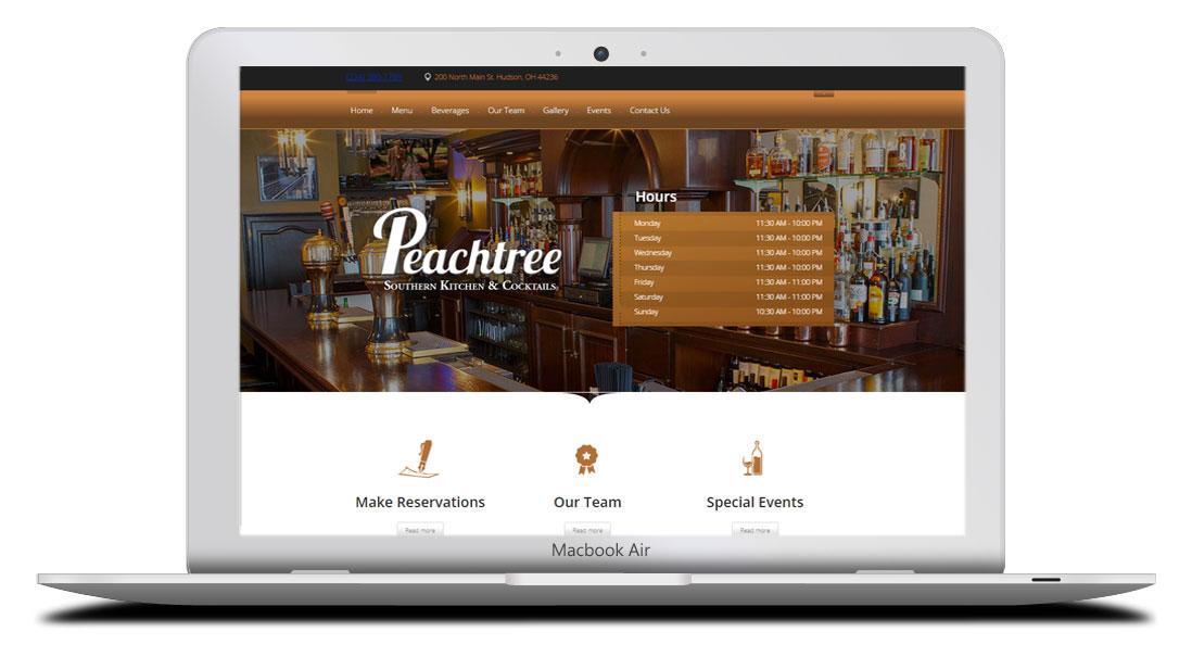 Kaptur Design - Peachtree Southern Kitchen Website Design