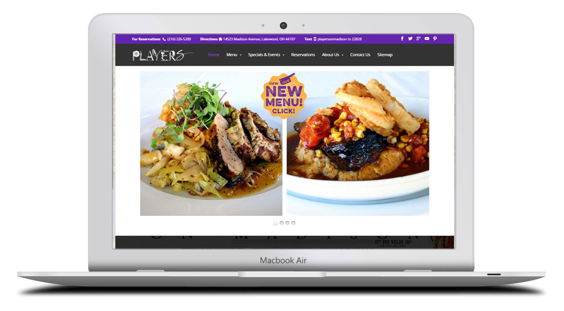Kaptur Design - Players on Madison Website Design
